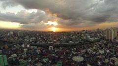 Sunset Timelapse Manila Bay Stock Footage