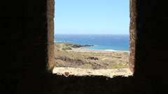 Semi destroyed sanatorium leprosarium in Abades village in Tenerife island Stock Footage