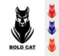 Bold Cat Stock Illustration