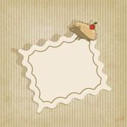 retro background with hedgehog - stock illustration