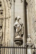 Stock Photo of bishop sculpture, toledo cathedral, spain