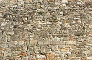 Stock Photo of castle stone wall