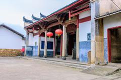 jiangxi ancient architecture - stock photo