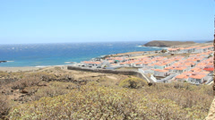 View to Abades Village from Leprosarium. Tenerife. Stock Footage