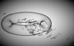 Glassy torus Stock Illustration