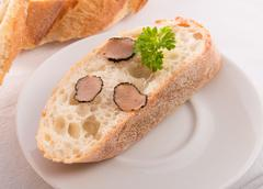 ciabatta with truffle - stock photo