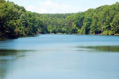 Small Lake Large Pond - stock photo