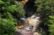 Stock Photo of Overhead Look of Small Waterfall