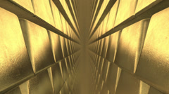 The golden bullion. Stock Footage