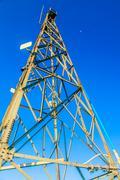 peak signal tower - stock photo