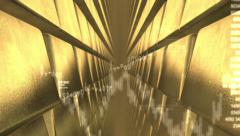 Financial background with golden bullion. Stock Footage