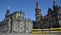 Residenzschloss Dresden Germany Stock Footage