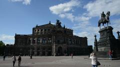 Dresden Semperoper panning Stock Footage