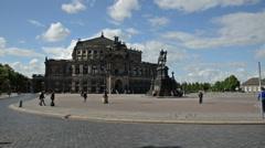 Semperoper Dresden Germany Stock Footage