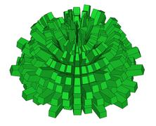 Stock Illustration of prickly abstract dome