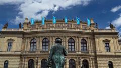 Rudolfinum in Prague Stock Footage