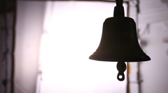 Silhouette of Temple Bell Stock Footage