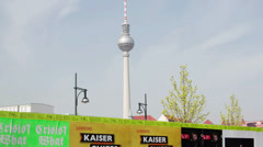 Berlin downtown TV tower hyper time lapse, Germany Stock Footage