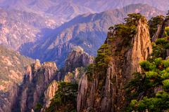 huangshan mountains - stock photo