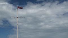 Giant English Flag 1 Stock Footage