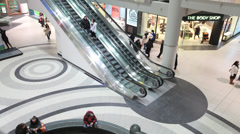 Mall Escalator Time Lapse Stock Footage