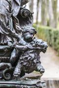 mythological bronze sculpture. ornamental fountains of the palace of aranjuez - stock photo