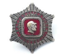 polish communism badge - stock photo