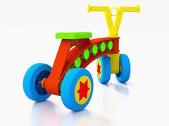 Four wheeled kids toy bike. Stock Illustration