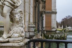 Tajo river way through palace of aranjuez, madrid, spain Stock Photos