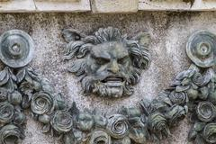 gargoyle. ornamental fountains of the palace of aranjuez, madrid, spain - stock photo