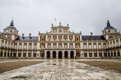 main gate.palace of aranjuez, madrid, spain - stock photo