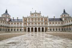 Queen.palace of aranjuez, madrid, spain, is one of the residences of the span Stock Photos