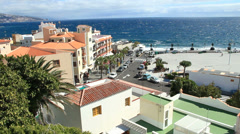 Candelaria city in Tenerife. Canary islands. Stock Footage