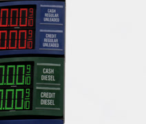 Pan free gas sign Stock Footage