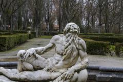 Neptune.ornamental fountains of the palace of aranjuez, madrid, spain Stock Photos