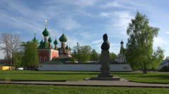 Stock Video Footage of Establishing shot. Convent in Pereslavl-Zalesski, Golden Ring town of Russia.