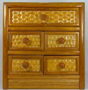 brown drawers - stock photo