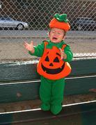 Pumpkin Baby Cry - stock photo