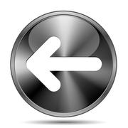 Left arrow icon Stock Illustration