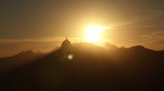 Sunset. Corcovado. Rio de Janeiro. Brazil Stock Footage