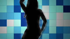 Fashion sexy dancer mosaic lights background - 1080p Stock Footage