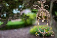 Crystal and Wrought Iron Outdoor Decor - stock photo