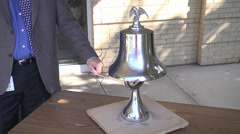 Stock Video Footage of rememberance ringing freedom bell