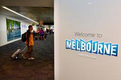 Melbourne airport - tullamarine airpor Stock Photos