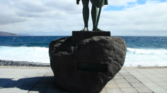 Statues of Guanche kings, Tenerife. Candelaria. Stock Footage