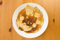 Burnt pancake Stock Photos