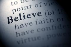 believe - stock photo