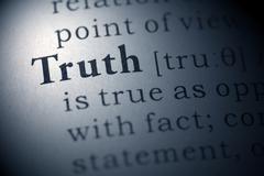 truth - stock photo