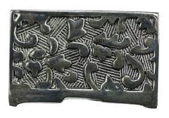 Metal engraved texture Stock Photos