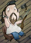 HillBilly, Color Illustration - stock illustration